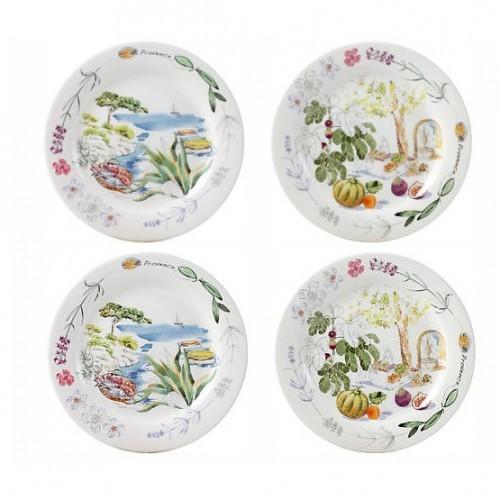 sc 1 st  S \u0026 K Ltd. \u2013 Fine Jewelers & Gien \u201cProvence\u201d Canape Plates Set of Four (4) \u2013 S \u0026 K Ltd.