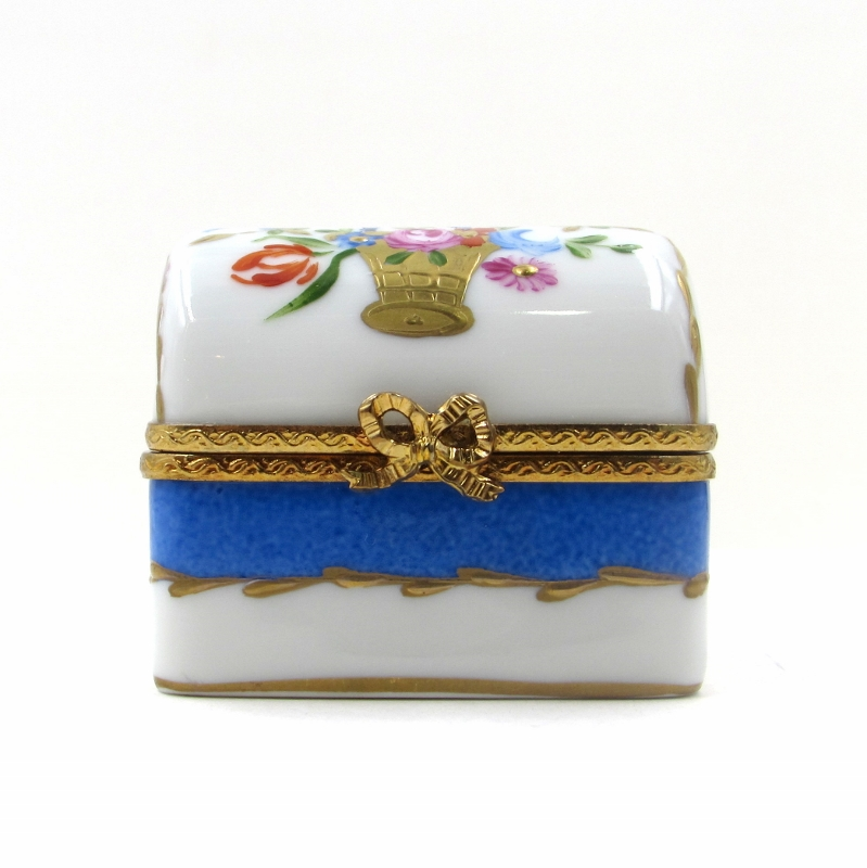 Limoges Marie Antoinette Trinket Box With Parfum Bottles S K Ltd