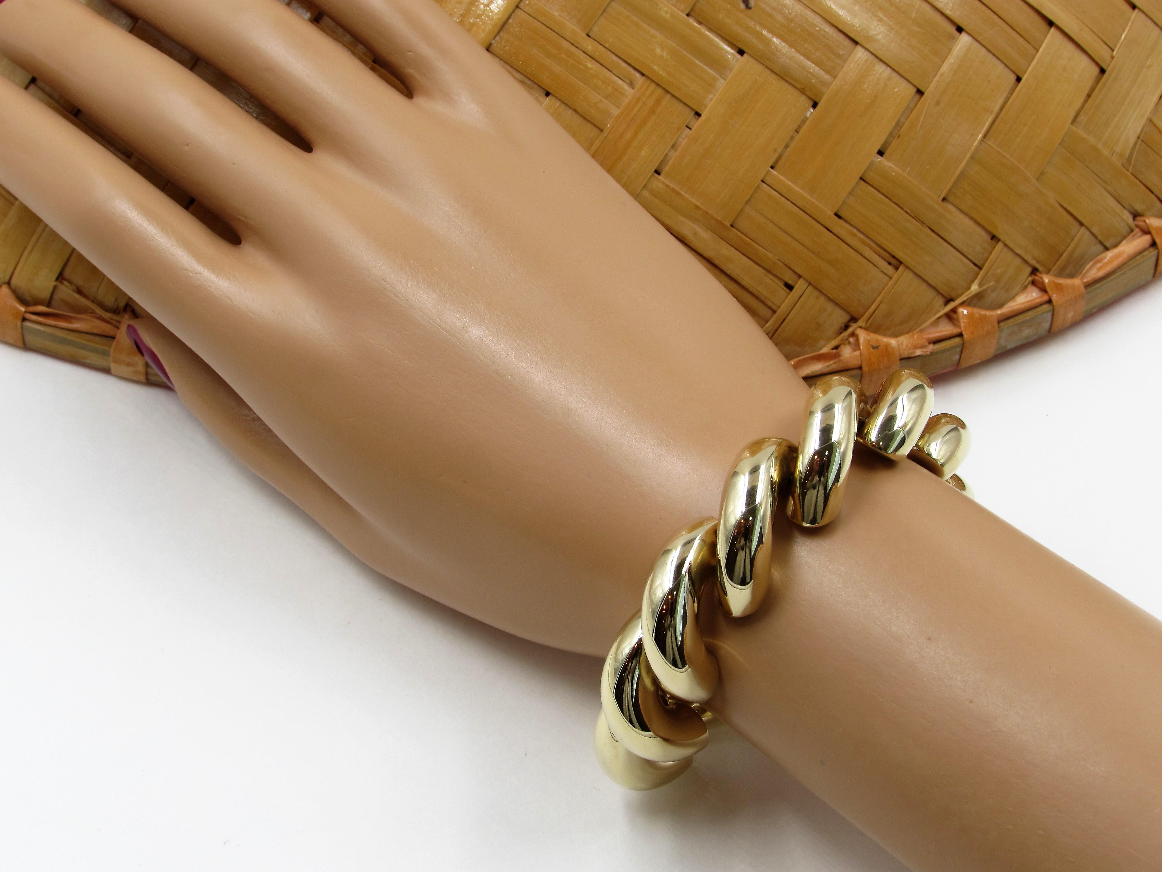 Estate 14 Karat Yellow Gold San Marco Bracelet S Amp K Ltd