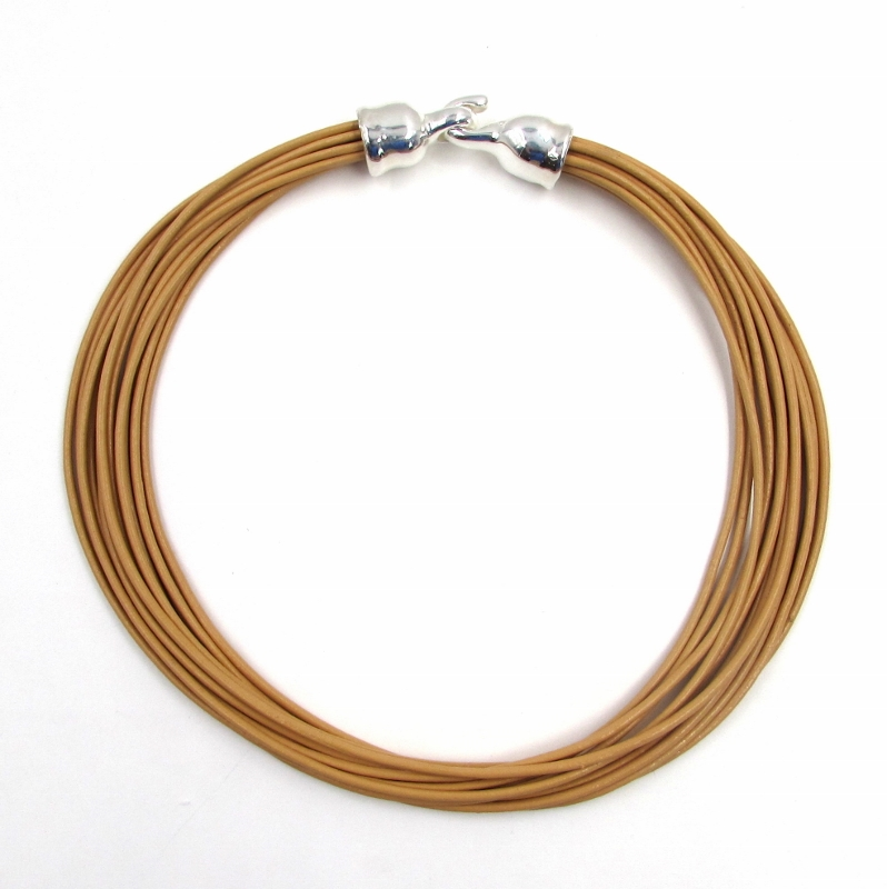 ed2eafcb403 Simon Sebbag Multistrand Nude Leather Necklace - S   K Ltd.