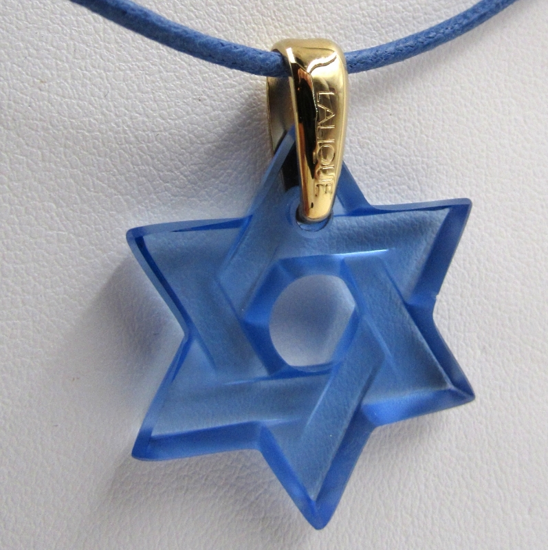 Lalique blue star of david crystal pendant on 18 kt over lalique blue star of david crystal pendant on 18 kt over sterling bail s k ltd aloadofball Gallery