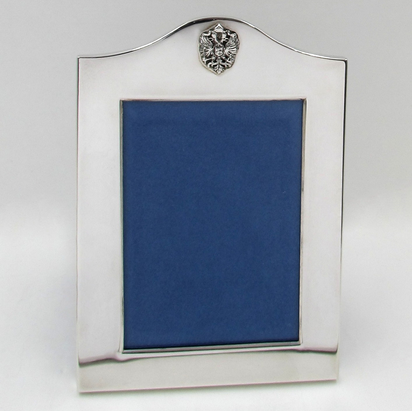 Faberge\' Sterling Silver Picture Frame with Romanov Eagle 3 x 4.5 ...
